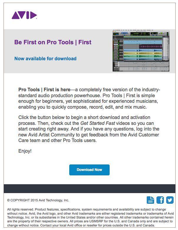 遂に来たっ pro tools first are you fredie